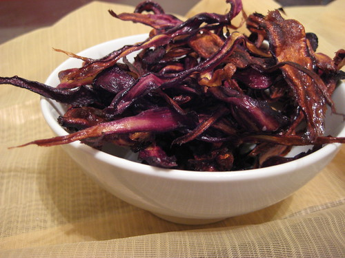 purple carrot chips