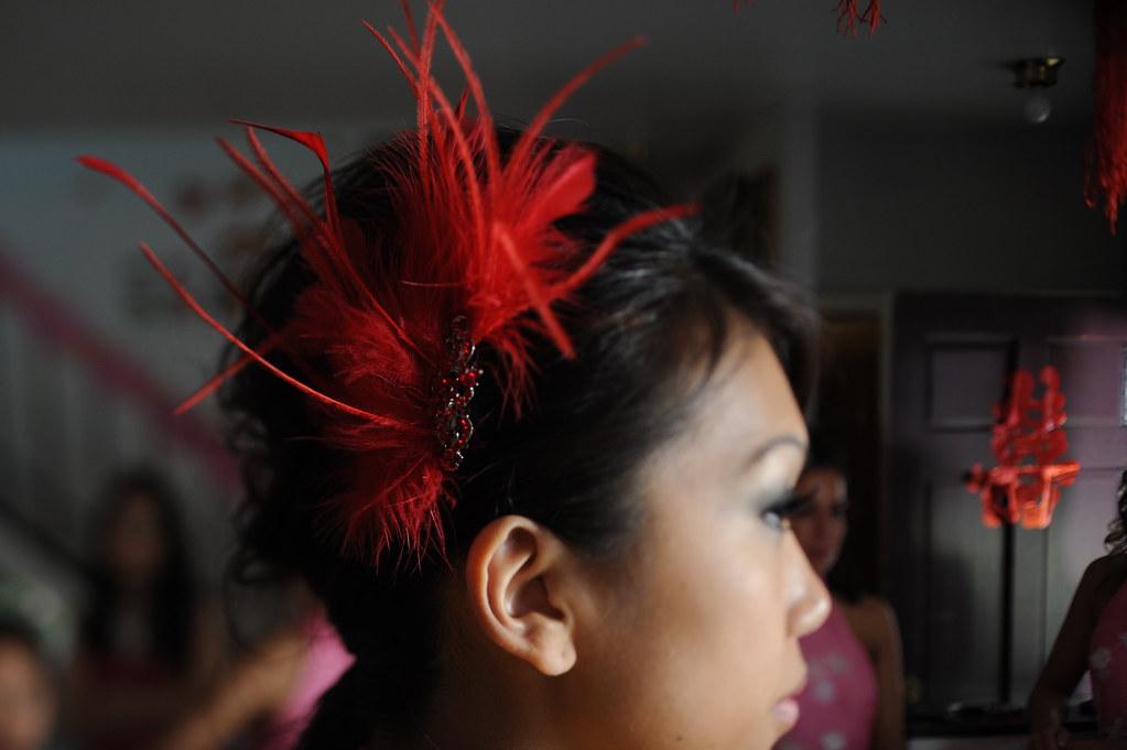 Diy fascinator hair comb adorkable duo wedding diy feather hair comb fascinator for wedding bride solutioingenieria Gallery