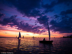 Sunset And Boats (Brian Roberts Images) Tags: sunset night boats marinelake wirral westkirby hilbreisland brianroberts wwwbrianrobertsimagescom