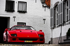 F40. (Denniske) Tags: red holland netherlands canon rouge photography eos is photoshoot nederland automotive ferrari l mm nl dennis thorn rood rosso 70200 f28 supercar ef v8 limburg f40 the fotoshoot noten lseries dreamcar llens rt 40d denniske dennisnotencom wwwdennisnotencom