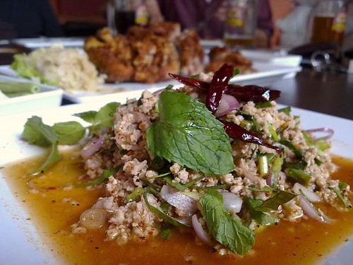 Pork Larb and Pork Knuckle