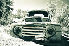 Rusty Old Pickup (Many Moon Honeymoon) Tags: africa abandoned sepia rust decay pickup damage damaged namibia fishrivercanyon lpdamaged