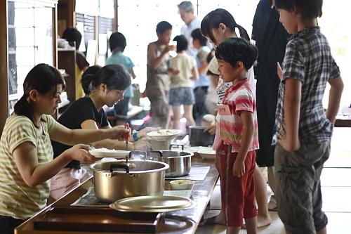 2009順光寺サマースクール 昼ごはん