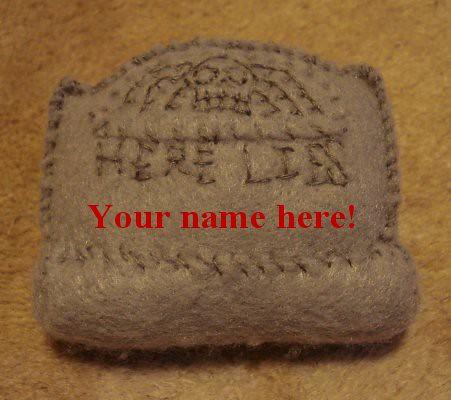 tombstone plush