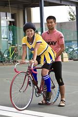 GIRLS Keirin FINAL ( Rie ) Tags: bike bicycle nagoya trackrace  bangking keirinrace