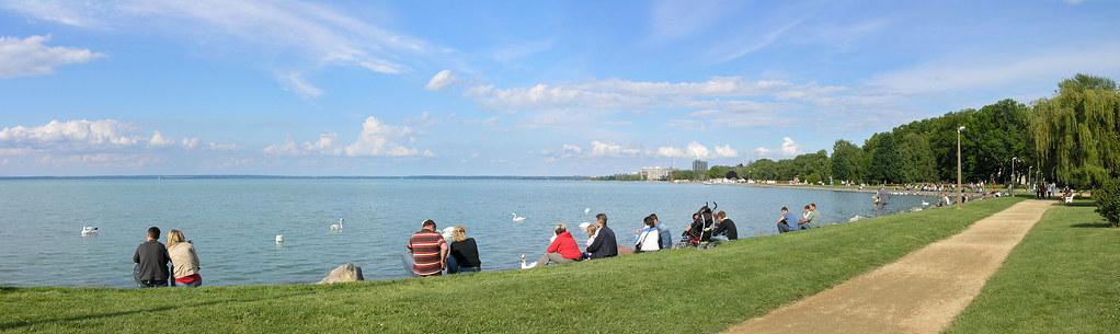 Siófok - shoreline panorama