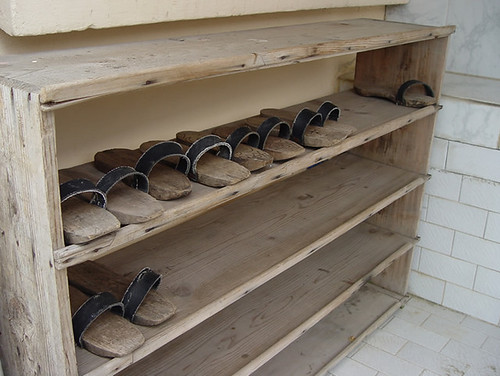 Row of Sandals at the mosque