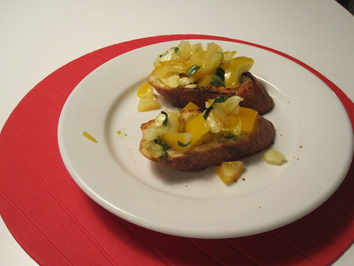 heirloom tomato bruschetta - from groceries