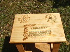 Wiccan Rede Altar Stand 2 (dragonoak) Tags: wood stand altar pentacle wiccanrede