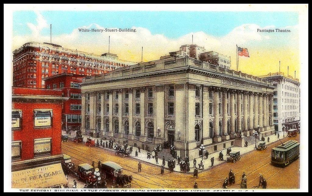 White~Henry~Stuart~Building ~postcard