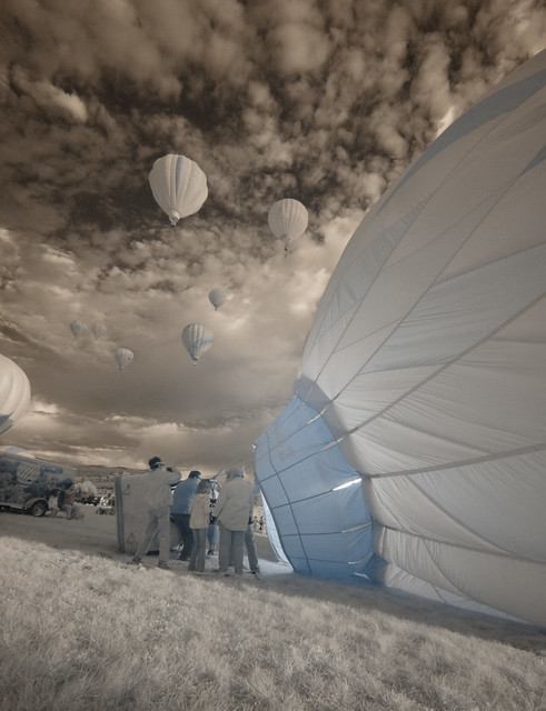 Early Morning Balloon Preparations (Infrared)