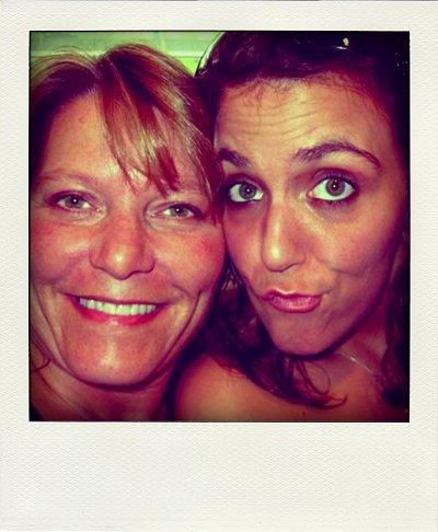 me and mom polaroid