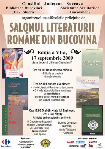 17 Septembrie 2009 » Salonul Literaturii Române din Bucovina