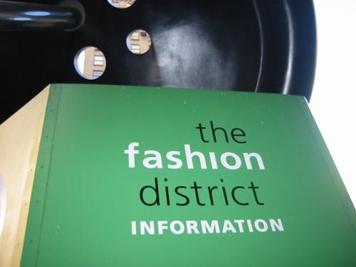 Giant button at the Fashion District kiosk - New York