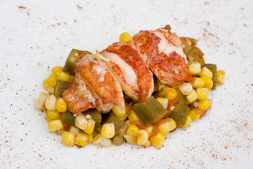 okra succotash with lobster 2