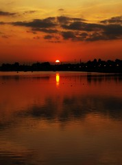 Setting Sun over Preston Marina (Tony Worrall) Tags: sunset red sky sun reflection nature water clouds docks golden evening northwest harbour dusk basin lancashire preston waterscape lancs wetreflection buoyant riversway prestonmarina ashtononribble