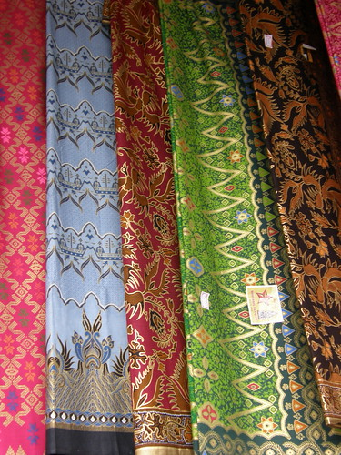Sarongs in an Indonesian market