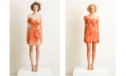 two-orange-dresses