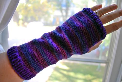 purple striped handwarmers
