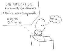 Job Application (hartboy) Tags: test work comic personality application job resume disagree questionnaire hartboy industrialorganizationalpsychology