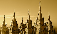 InSpired (Potterazzi) Tags: lake buildings temple spires salt lds moroni