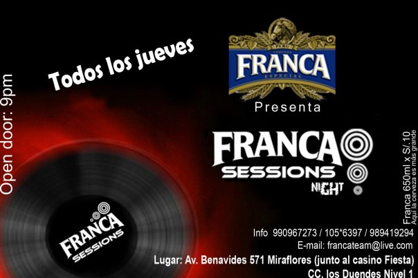 Franca Session´s Nights - Miraflores