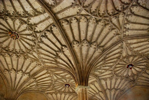 the ceiling of christ church college, oxford