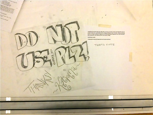 passiveaggressivenotes.com: do not use plz, from norman, oklahoma