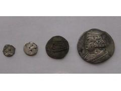 Parthian silver coins (Baltimore Bob) Tags: old money silver persian coin ancient iran coins persia parthian parthia arsacid arsakid