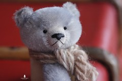 Jean (Marion Klein) Tags: bear blue baby toy klein artist hand teddy handmade 5 ooak bears acid marion mohair attic dyed joints jointed cotterpin pepperpyne marionbearmaker