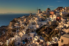 Oia, Santorini (_skynet) Tags: ocean travel blue sunset sea vacation sky cliff sun holiday windmill architecture photoshop landscape island photography islands evening aperture europe gallery republic dusk fine hellas cliffs santorini greece caves backpacking caldera traveling hdr oia thira evenings cyclade cycladic hella fira the hellenic 3xp photomatix of eeyah fotocompetition fotocompetitionbronze fotocompetitionsilver fotocompetitiongold