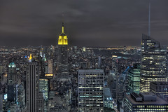 Top of the Rock New York City Manhattan Skyline (DiGitALGoLD) Tags: new york city building rock skyline night nikon shot state top manhattan timesquare empire f28 d3 2470