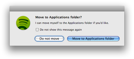 Screenshot of the Move to Applications dialog