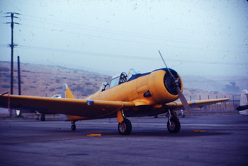 Yellow training aircraft