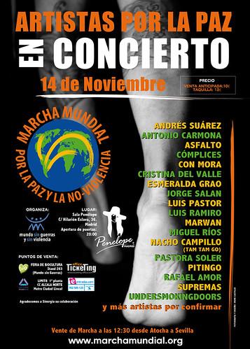 Artistas por la paz en concierto
