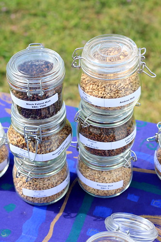 Jars of malted barley