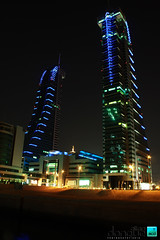 The Bahrain Financial Harbour at night 2