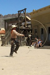 Rope Trick b (BarryFackler) Tags: vacation arizona southwest west movie cowboy gun desert boots dry rope lariat trick bandana cowboyhat movieset wildwest chaps arid holster stunt gallows lasso oldwest americansouthwest oldtucson sixshooter moviestudio 2011 oldtucsonstudios gunbelt ropetrick pimacounty cowboycal barryfackler barronfackler stuntmancowboy