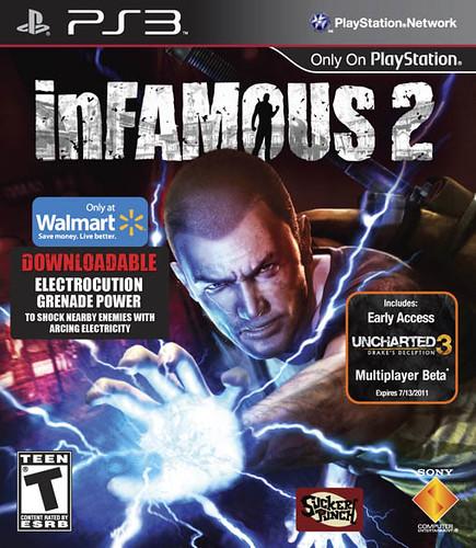 inFAMOUS 2 Walmart SKU