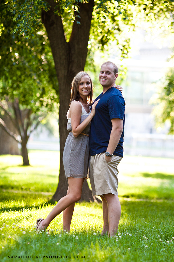 Kansas City Crown Center engagement session