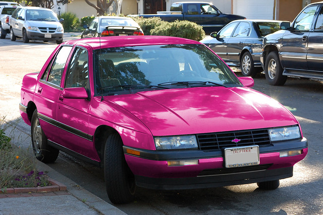 chevrolet corsica chevy hotpink