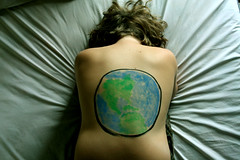oh atlas (102/365) (alexis mire) Tags: world back paint earth brother sheets atlas tones