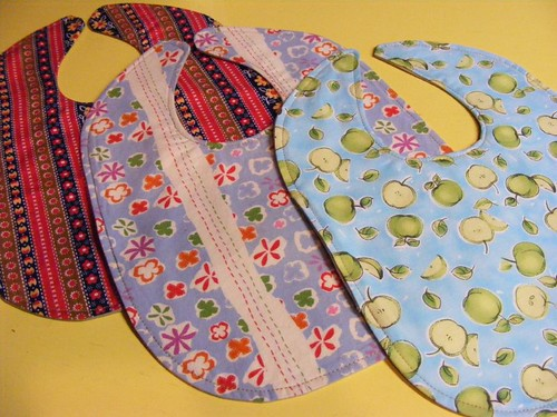 Three Finished Bibs