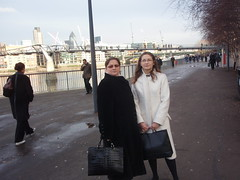 With Mum on the South Bank (Ania1.0) Tags: london january graduation masters royalfestivalhall kingscollegelondon