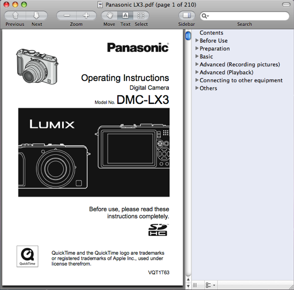 Panasonic DMC-LX3 Manual / Operating Instructions