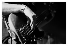 the bass (wunderskatz) Tags: new bw music white black monochrome linz happy austria concert hungary artist ship shot bass guitar live stage year budapest band stefan a38 parov stelar brassai hoelzl wunderskatz