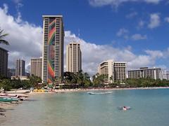 The Rainbow Hilton (ericfranklin) Tags: ocean summer beach hawaii rainbow oahu hilton july northshore diamondhead honolulu seaturtle