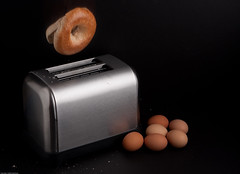 Toaster (craig.proulx) Tags: food fling breakfast toaster action wheat toast commercial bagel eggs dairy alienbee product softbox eject strobe