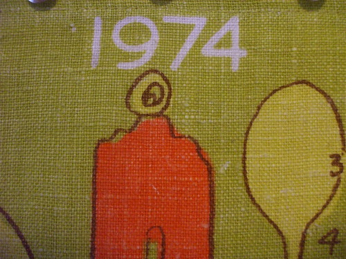 1974 Vera calendar - kitchen bits and pieces