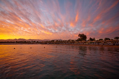 Naama Bay sunset (WomEOS) Tags: sunset sky holiday mountains beach colors redsea egypt sharmelsheikh 2009 canon1740l naamabay